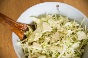 Creamy green apple slaw